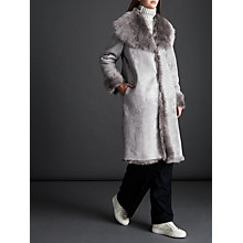 Buy Modern Rarity Shearling Long Coat, Light Grey Online at johnlewis.com