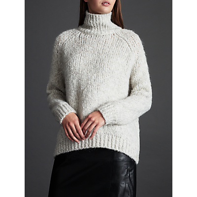 Modern Rarity Chunky Knit Jumper, Pale Grey