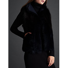 Buy Modern Rarity Shearling Gilet, Black/Navy Online at johnlewis.com
