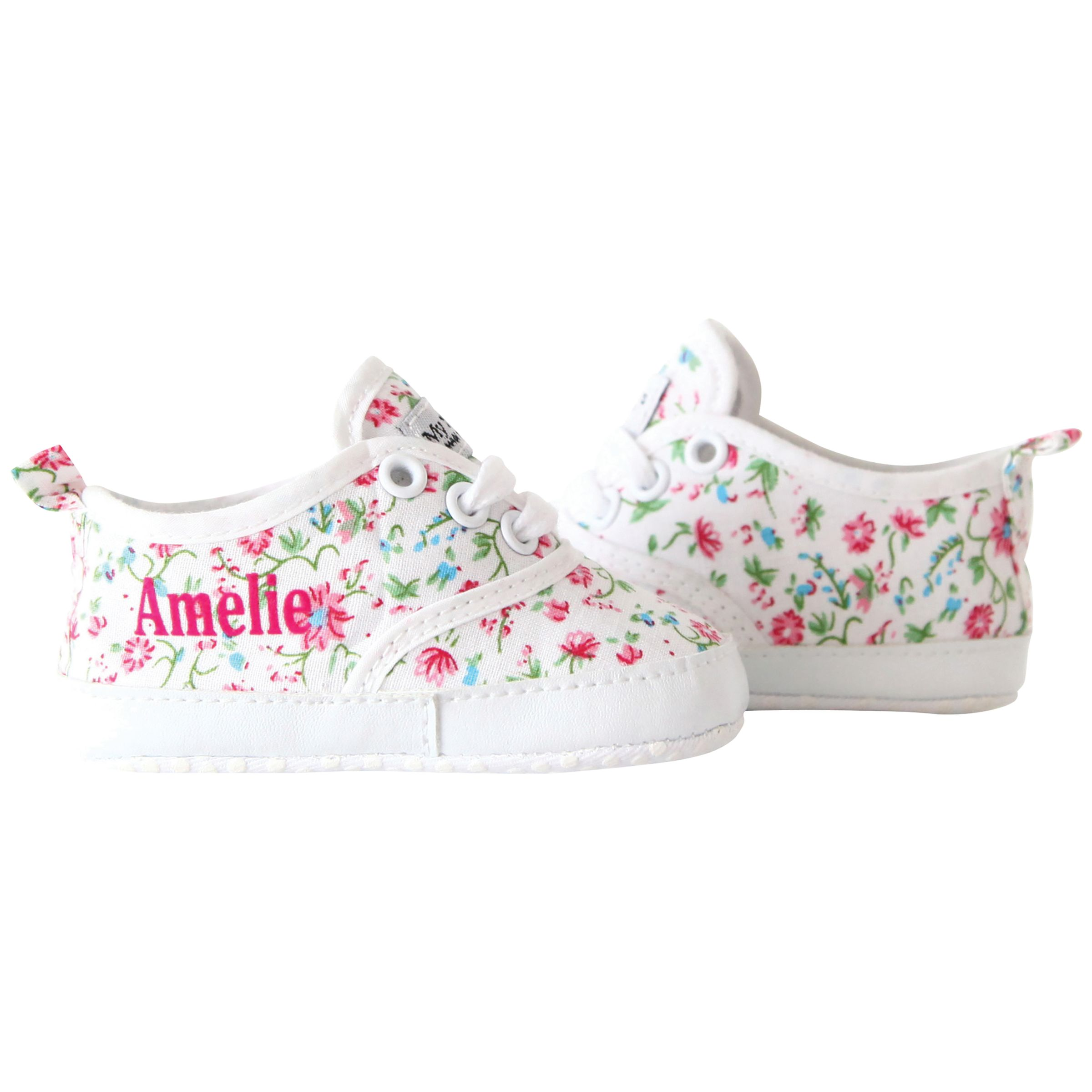 My 1st Years My 1st Years Baby Personalised Ditsy Print Trainers, Multi