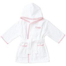 Buy My 1st Years Baby Personalised Princess Gingham Robe, Multi Online at johnlewis.com