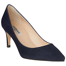 Buy L.K. Bennett Florida Pointed Toe Court Shoes, Navy Online at johnlewis.com