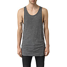 Buy AllSaints Hathan Vest, Charcoal/Chalk White Online at johnlewis.com