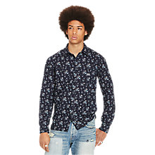 Buy Denim & Supply Ralph Lauren Raw Edge Floral Shirt, Wildflower Floral Online at johnlewis.com