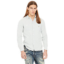 Buy Denim & Supply Ralph Lauren Raw Edge Shirt, Blue Multi Online at johnlewis.com
