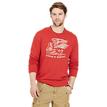 Buy Denim & Supply Ralph Lauren Crew Neck Sweatshirt, Sportsman Orange Online at johnlewis.com