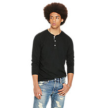 Buy Denim & Supply Ralph Lauren Long Sleeve Knitted Henley Top Online at johnlewis.com