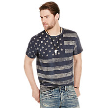 Buy Denim & Supply Ralph Lauren Crew Neck T-Shirt, Supply Indigo Online at johnlewis.com
