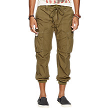 Buy Denim & Supply Cargo Jogging Bottoms, Marine Corp Olive Online at johnlewis.com