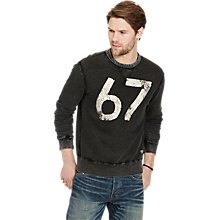 Buy Denim & Supply Ralph Lauren Crew Neck Jumper, Polo Black Online at johnlewis.com