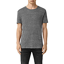Buy AllSaints Hathan Short Sleeve T-Shirt, Charcoal/Chalk White Online at johnlewis.com