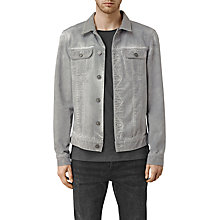 Buy AllSaints Orbital Denim Jacket, Grey Online at johnlewis.com