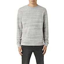 Buy AllSaints Trema Marl Crew Neck Sweatshirt, Ecru Mouline/Vintage White Online at johnlewis.com