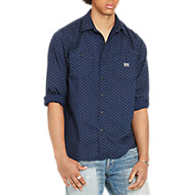 Buy Denim & Supply Ralph Lauren Raw Edge Shirt, Mini Circle Print Online at johnlewis.com