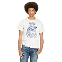 Buy Denim & Supply Ralph Lauren Graphic Crew Neck, Antique Cream Online at johnlewis.com
