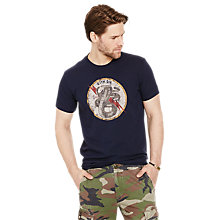 Buy Denim & Supply Ralph Lauren Crew Neck Short Sleeve T-Shirt, Classic Navy Online at johnlewis.com