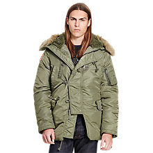 Buy Denim & Supply Ralph Lauren DNF Down Snorkel Jacket, Tent Green Online at johnlewis.com