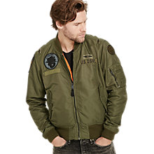 Buy Denim & Supply Ralph Lauren Patch Bomber, Everglade Online at johnlewis.com