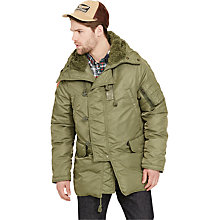Buy Denim & Supply Ralph Lauren Bomber Jacket, Tent Green Online at johnlewis.com