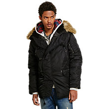 Buy Denim & Supply Ralph Lauren DNF Down Snorkel Jacket, Polo Black Online at johnlewis.com