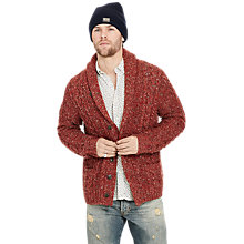 Buy Denim & Supply Ralph Lauren Shawl Boyfriend Cardigan, Red Multi Online at johnlewis.com