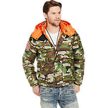 Buy Denim & Supply Ralph Lauren Down Fill Jacket, Old Woodland Multi Online at johnlewis.com