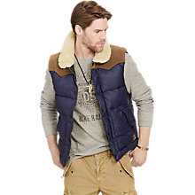 Buy Denim & Supply Ralph Lauren Down Fill Gilet, Biella Navy Online at johnlewis.com