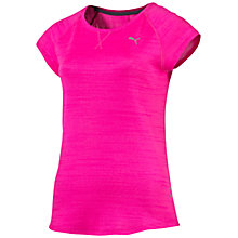 Buy Puma Short Sleeve Rebel Run T-Shirt, Pink Online at johnlewis.com