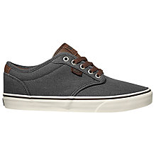 Buy Vans Atwood Deluxe Lace-Up Shoes, Chestnut Online at johnlewis.com