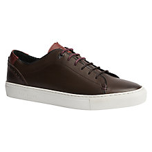 Buy Ted Baker Kiing Trainers, Chocolate Online at johnlewis.com
