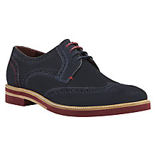 Buy Ted Baker Archerr Suede Brogues, Blue Online at johnlewis.com