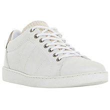 Buy Dune Techno Perforated Tongue Detail Leather Trainers Online at johnlewis.com
