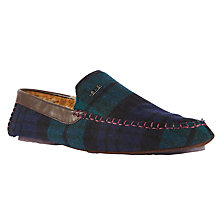 Buy Ted Baker Morris Check Moccasin Slippers, Green Online at johnlewis.com