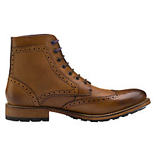 Buy Ted Baker Sealls Brogue Boots, Tan Online at johnlewis.com