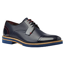 Buy Ted Baker Braythe Textured Leather Derby Shoes Online at johnlewis.com