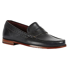 Buy Ted Baker Miicke 2 Leather Loafers, Blue Online at johnlewis.com