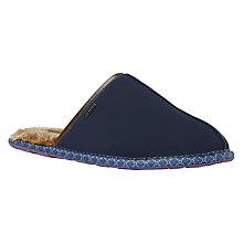 Buy Ted Baker Youngi Classic Mule Leather Slipper, Navy Online at johnlewis.com