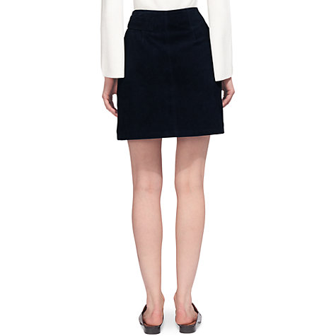 buy whistles eyelet suede mini skirt navy lewis