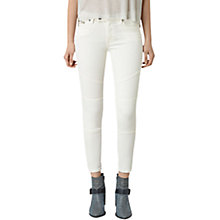 Buy AllSaints Biker Cropped Jeans Online at johnlewis.com