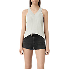 Buy AllSaints Manson Cropped Vest, Porcelain White Online at johnlewis.com