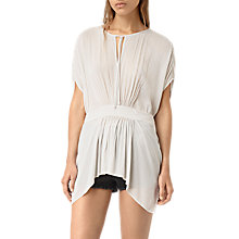 Buy AllSaints Nevis Top, Oyster White Online at johnlewis.com