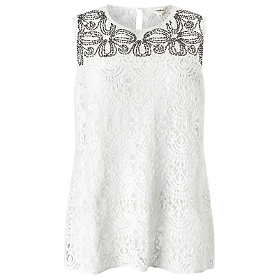 Studio 8 Ailsa Lace Top, White
