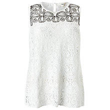 Buy Studio 8 Ailsa Lace Top, White Online at johnlewis.com