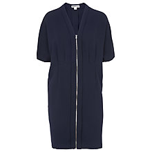 Buy Whistles Percy Zip Front Dress, Navy Online at johnlewis.com