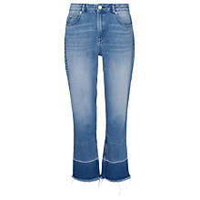 Buy Whistles Relaxed Raw Hem Jean, Denim Online at johnlewis.com