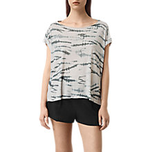 Buy AllSaints Pina Tye T-shirt Online at johnlewis.com