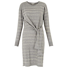 Buy Whistles Louise Tie Front Dress, Grey Online at johnlewis.com