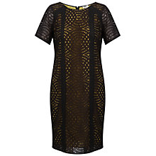 Buy Celuu Lu Panelled Circle Lace Shift Dress, Charcoal Online at johnlewis.com