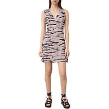 Buy AllSaints Ille Tye Silk Dress, Pink/Black Online at johnlewis.com
