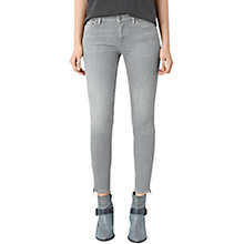 Buy AllSaints Mast Ankle Zip Jeans, Pale Grey Online at johnlewis.com